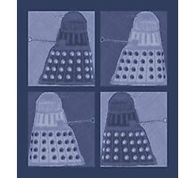Daleks in negatives - blue Photographic Print