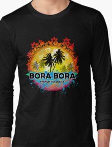 Bora Bora Sunset Style Long Sleeve T-Shirt