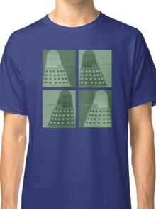 Daleks in negatives - green Classic T-Shirt