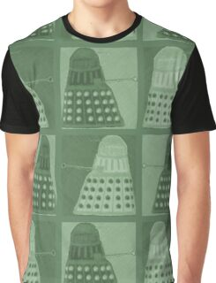 Daleks in negatives - green Graphic T-Shirt