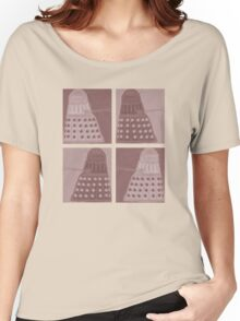 Daleks in negatives - brown Women's Relaxed Fit T-Shirt