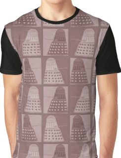 Daleks in negatives - brown Graphic T-Shirt
