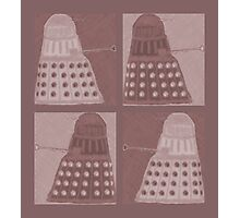 Daleks in negatives - brown Photographic Print