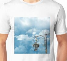 Silhouette of a street lamp on the background of the beautiful sky Unisex T-Shirt