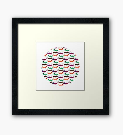 Silly Sausages Framed Print
