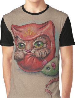 Daruma Cat  Graphic T-Shirt