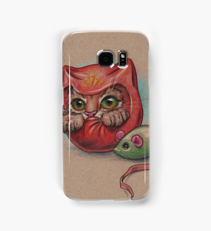 Daruma Cat  Samsung Galaxy Case/Skin