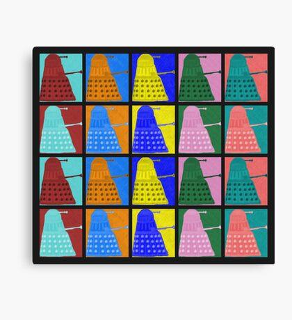 Pop art Daleks - variant 2 Canvas Print