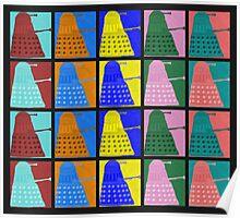 Pop art Daleks - variant 2 Poster
