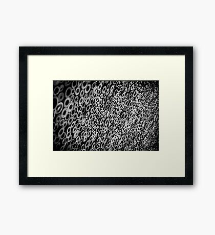 Abstract Black & White Bamboo Framed Print