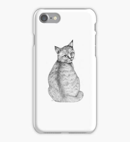 Fine Art Drawing of an Abyssinian Kitten iPhone Case/Skin