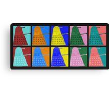 Pop art Daleks - variant 1 Canvas Print