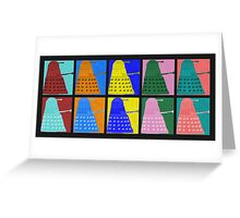 Pop art Daleks - variant 1 Greeting Card