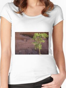The Breeze Whispers Life Women's Fitted Scoop T-Shirt