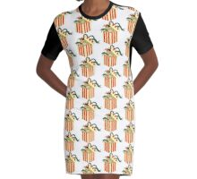 Bear In A Box Graphic T-Shirt Dress