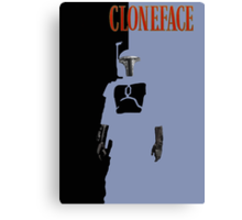 Fett is Cloneface Canvas Print
