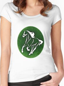 Horse 13 Women's Fitted Scoop T-Shirt