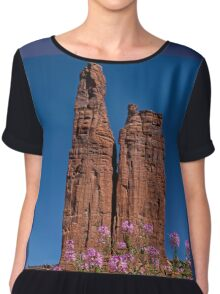 Spider Flowers and Spider Rock Women's Chiffon Top