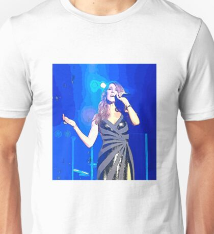 Celine Dion Abstract Art Unisex T-Shirt