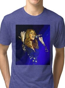 Moving and emotional portrait of Celine Dion Tri-blend T-Shirt