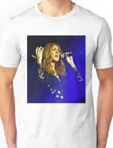 Moving and emotional portrait of Celine Dion Unisex T-Shirt