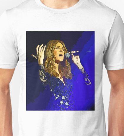 Moving and emotional portrait of Celine Dion Unisex T-Shirt