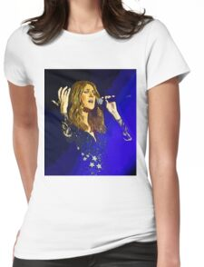 Moving and emotional portrait of Celine Dion Womens Fitted T-Shirt