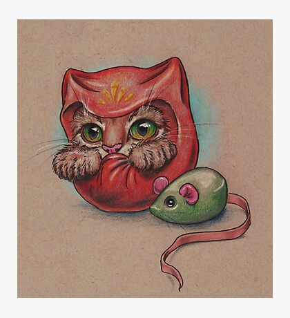Daruma Cat  Photographic Print