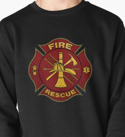 Firefighter Diamond Plate Design Pullover