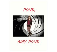 Pond, Amy Pond Art Print
