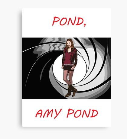 Pond, Amy Pond Canvas Print