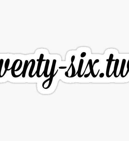twenty-six.two Sticker