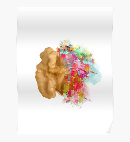 I create - The right side of the brain Poster