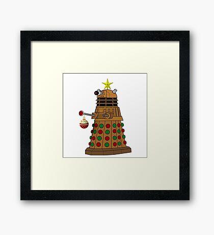 A Dalek Tree Framed Print