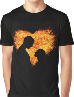 A Couple in Heart Flames Graphic T-Shirt