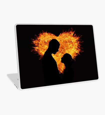 A Couple in Heart Flames Laptop Skin
