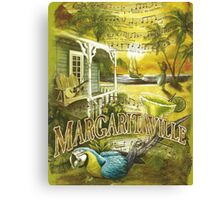 Margaritaville Poster Lyrics by Jimmy Buffett Canvas Print