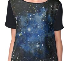 Iris Nebula (NGC 7023) Watercolor Interpretation Chiffon Top