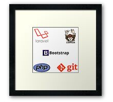 php laravel composer developer sticker set Framed Print