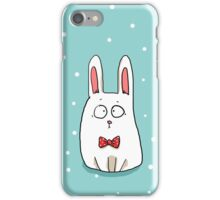 Bunny with a red bow tie iPhone Case/Skin
