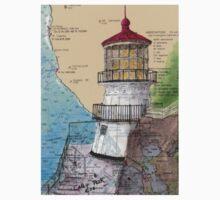 Pt Reyes Lighthouse Cathy Peek CA Nautical Chart Map Kids Tee