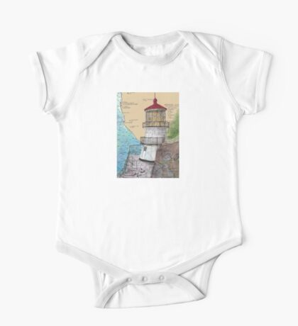 Pt Reyes Lighthouse Cathy Peek CA Nautical Chart Map One Piece - Short Sleeve