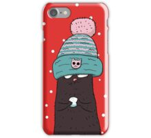 Cat in the blue cap iPhone Case/Skin