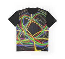 Abstract Ball Of Neon Lights Graphic T-Shirt