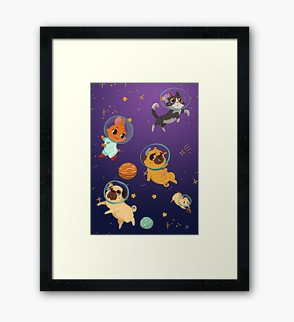 Space pets Framed Print