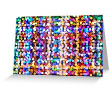 Abstract Collection Of Beautiful Lights Greeting Card