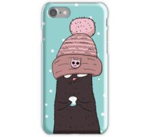 Cat in the pink cap iPhone Case/Skin