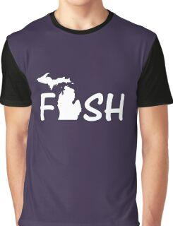 Fish Michigan Lake Fisherman Graphic T-Shirt