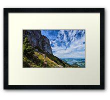 Hiking in Austria Framed Print