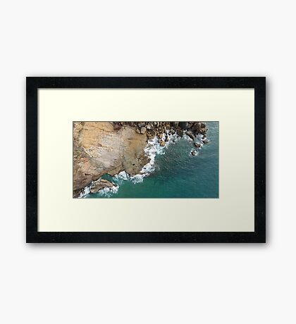 Where Land Meets Sea Framed Print